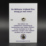 Pins4you, Militaire Vrijheid Pins op gift card achterkant